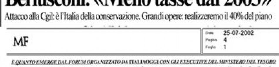 Berlusconi abbassa le tasse